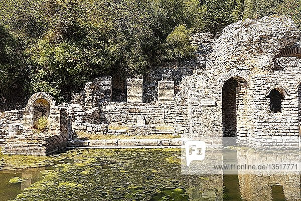 Asklepios-Heiligtum  antike Stadt Butrint  Nationalpark Butrint  Saranda  Albanien  Europa