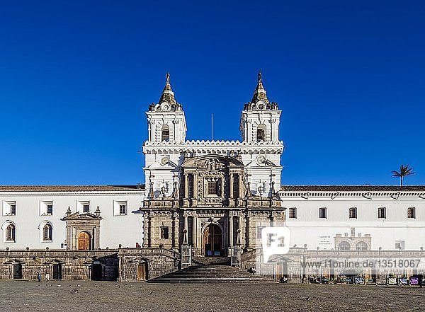 Saint Francis Church and Monastery  Plaza San Francisco  Old Town  Quito  Pichincha Province  Ecuador  South America