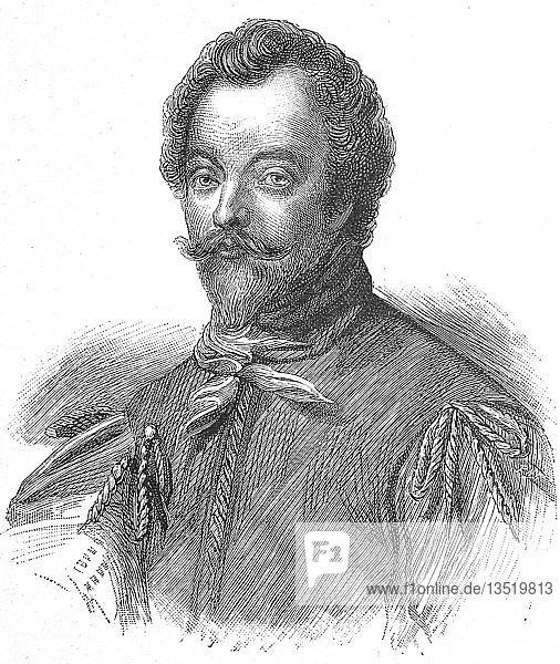 Sir Francis Drake  Vizeadmiral  1540  1596  Holzschnitt  Portrait  1885  England  Großbritannien  Europa