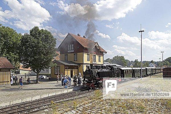 Bahnhof Ochsenhausen  Museumsschmalspurbahn Öchsle  Baden-Württemberg  Deutschland  Europa
