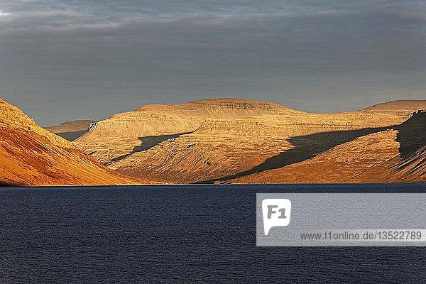 Fjord landscape  Westfjords  Iceland  Europe