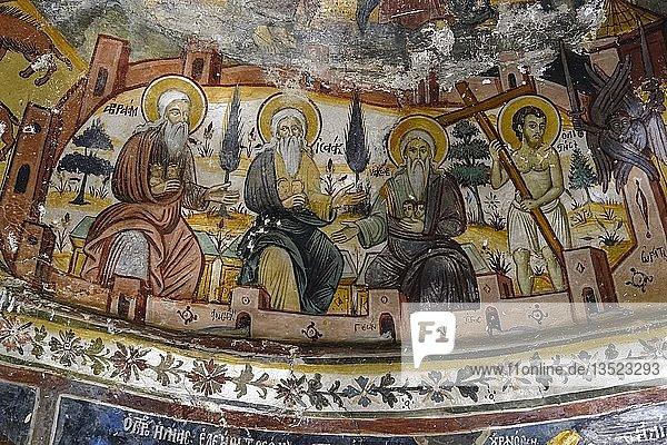 Fresken  Kloster St. Peter und Paul  Manastiri i Shën Pjetrit  Vithkuq  Region Korça  Korca  Albanien  Europa