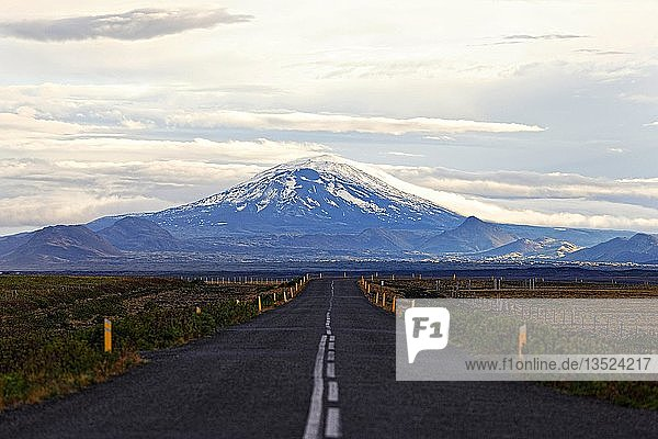 Hecla the most active volcano in Southwest Iceland  Iceland  Europe