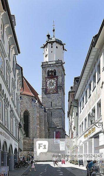 Evangelische Kirche St. Martin  Memmingen  Schwaben  Bayern  Deutschland  Europa