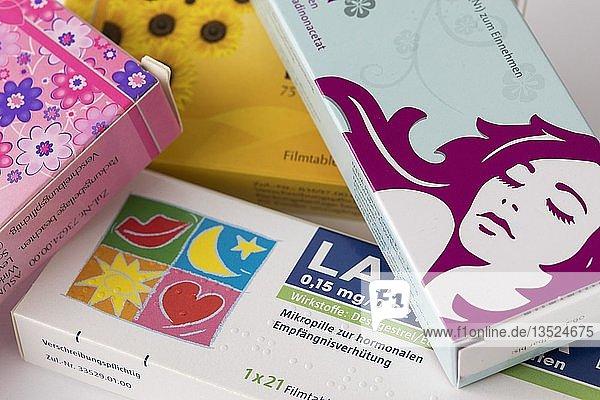 Antibabypille  Medikamente zur Empfängnisverhütung  Tablettenpackungen  Deutschland  Europa