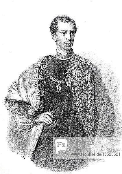 Franz Joseph I.  18. August 1830  21. November 1916  Kaiser von Österreich  1848  Holzschnitt  Österreich  Europa