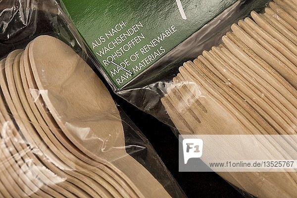Einwegbesteck aus Holz  recyclebar