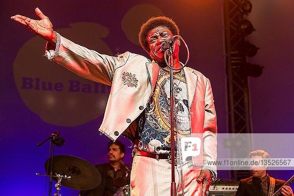 The US-American soul singer Charles Bradley live at the Blue Balls Festival Lucerne  Switzerland  Europe