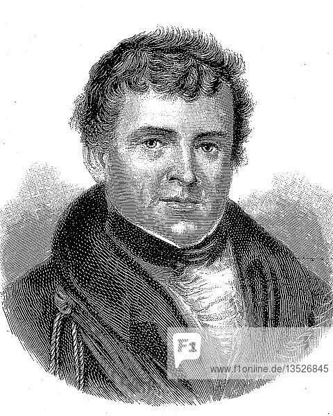 Daniel O Connell  6. August 1775  15. Mai 1847  war ein irischer Politiker  Holzschnitt  Irland  Europa