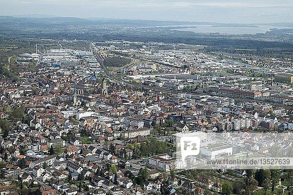 Die Stadt Singen am Hohentwiel  Baden-Württemberg  Deutschland  Europa