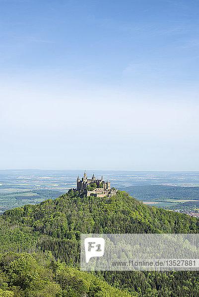 Hohenzollern Castle on the Zollernalb  Baden-Württemberg  Germany  Europe