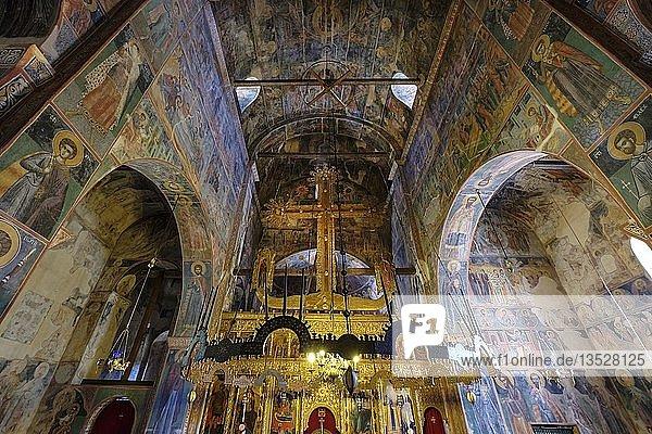 Fresken in Klosterkirche  serbisch-orthodoxes Kloster Piva  Provinz Pluzine  Montenegro  Europa