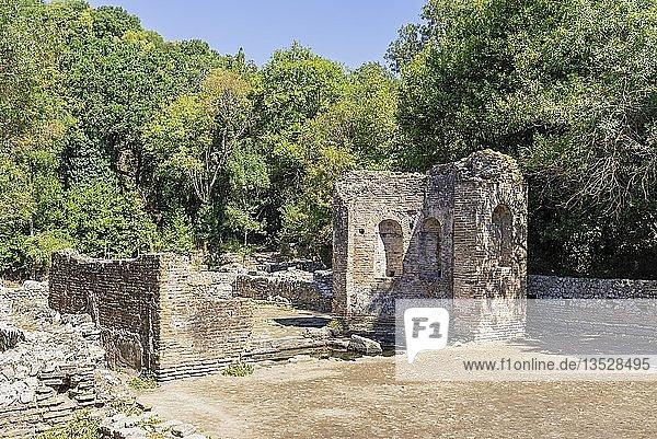 Gymnasium  antike Stadt Butrint  Nationalpark Butrint  Saranda  Albanien  Europa