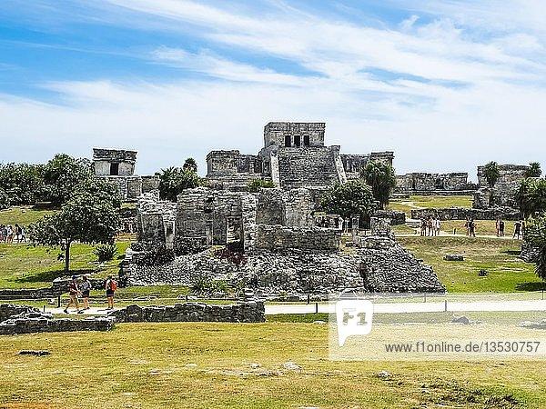 Mayaruinen  Tulum  Quintana Roo  Riviera Maya  Halbinsel Yucatan  Mexico