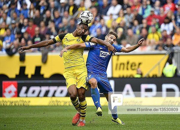 Zweikampf Abdou Diallo BVB Borussia Dortmund gegen Andrej Kramaric TSG 1899 Hoffenheim  Wirsol Rhein-Neckar Arena  Sinsheim  Baden-Württemberg  Deutschland  Europa
