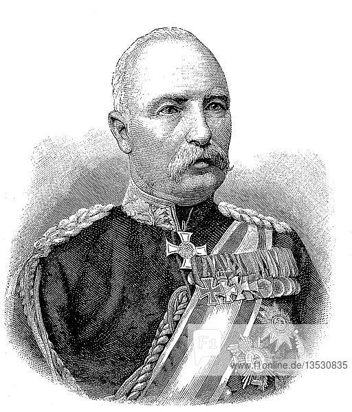 Baron Friedrich Karl Walter Degenhard von Loe  1828-1908  war ein preußischer Soldat und Aristokrat  Deutschland  war ein kommandierender General des 8.  Europa