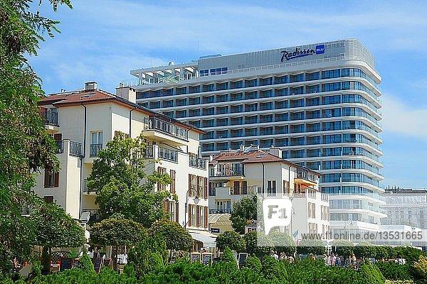 Stadtbild mit Radisson Blue Hotel  Swinemünde  Westpommern  Polen  Europa