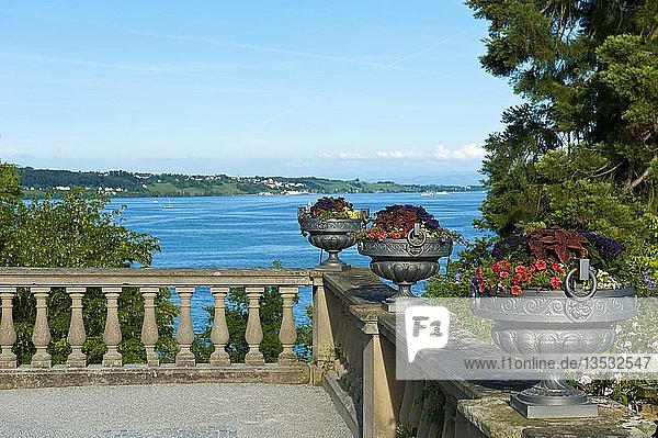 Mediterranean Terraces  Island of Mainau  Lake Constance  Baden-Württemberg  Germany  Europe