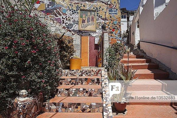 Farbenfrohe Gasse  Puerto de Mogan  Gran Canaria  Kanarische Inseln  Spanien  Europa