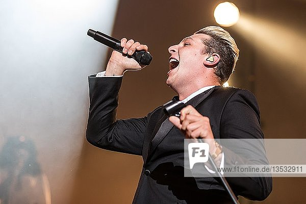 The British soul singer John Newman live at the 25th Blue Balls Festival in Lucerne  Switzerland  Europe