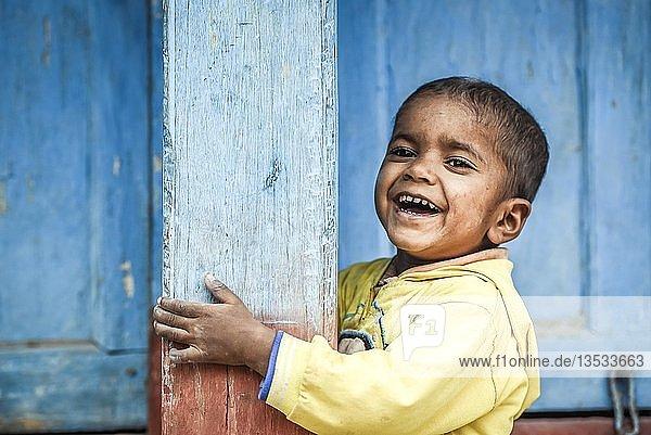 Lachendes Kind  Junge  Bandipur  Nepal  Asien Lachendes Kind, Junge, Bandipur, Nepal, Asien