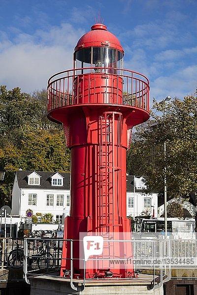 Leuchtturm Pagensand Süd  Museumshafen Oevelgönne  Othmarschen  Hamburg  Deutschland  Europa