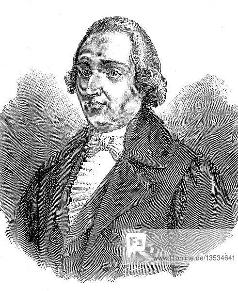 Johann Philipp Palm  18. Dezember 1766  26. August 1806  Holzschnitt  Deutschland  Europa