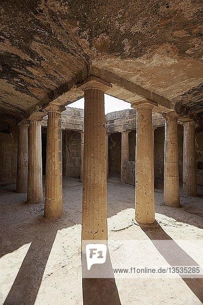 Archäologische Ausgrabungsstätte  Königsgräber von Nea Pafos  Nekropole der römischen Antike  Republik Zypern  Zypern  Europa