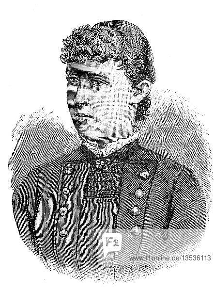 Prinzessin Heinrich  Irene Luise Marie Anne  Prinzessin von Hessen und am Rhein  11. Juli 1866  11. November 1953  Holzschnitt  1888  Deutschland  Europa
