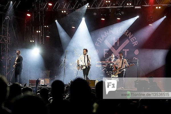 The British musician Frank Turner & The Sleeping Souls live at the 27th Heitere Open Air in Zofingen  Aargau  Switzerland  Europe