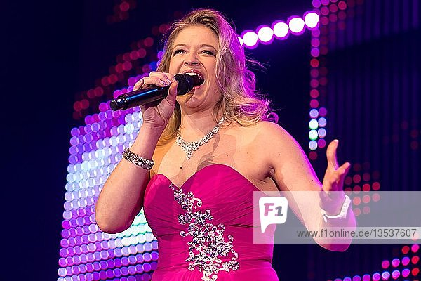The Swiss Schlager and folk music singer Monique live at the 16th Schlager Nacht in Lucerne  Switzerland  Europe