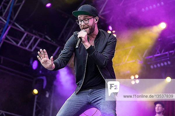 The German singer and songwriter Mark Forster live at the 27th Heitere Open Air in Zofingen  Aargau  Switzerland  Europe