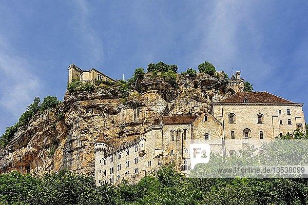 Palast der Bischöfe von Tulle  Wallfahrtsort von Rocamadour  Lot  Occitanie  Frankreich  Europa