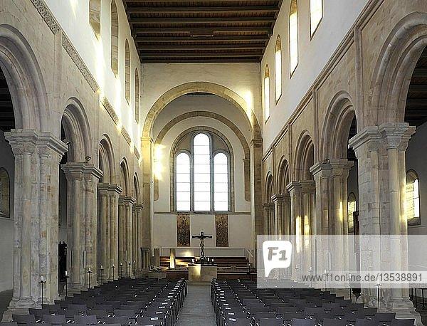 Klosterkirche Thalbürgel  romanische Kirche St. Maria und St. Georg  Thalbürgel  Gemeinde Bürgel  Thüringen  Deutschland  Europa