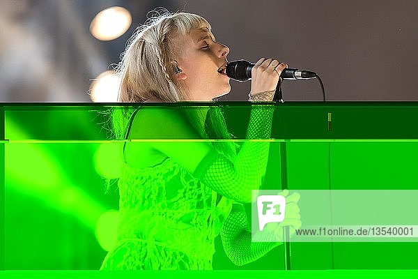 The Norwegian singer Aurora live at the 25th Blue Balls Festival in Lucerne  Switzerland  Europe