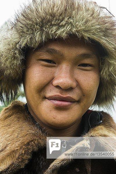 Koryak  Ureinwohner von Kamchatka  Portrait  Esso  Kamchatka  Russland  Europa