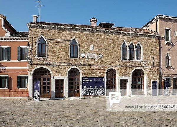 Museo del Merletto  Museum für Spitzenstickerei  Insel Burano  Venedig  Venetien  Italien  Europa