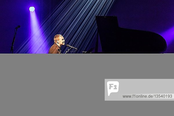 British musician David Gray live at the 25th Blue Balls Festival in Lucerne  Switzerland  Europe