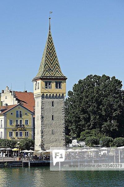 Old Lighthouse  Mangenturm  Lindau  Swabia  Bavaria  Germany  Europe