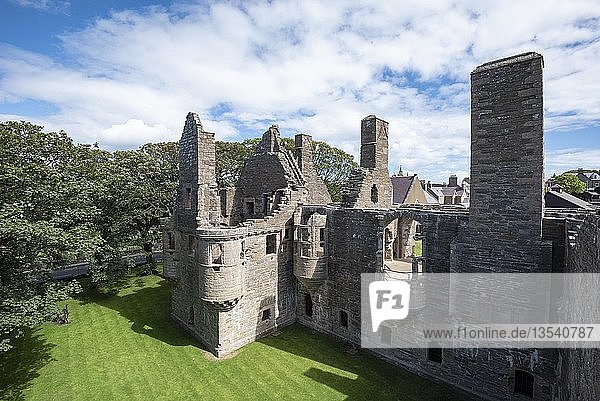 Burgruine Earl's Palace  Kirkwall  Mainland  Orkney-Inseln  Schottland  Großbritannien  Europa