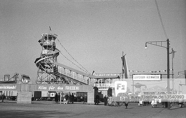 Kleinmesse  1950  Leipzig  Sachsen  DDR  Deutschland  Europa