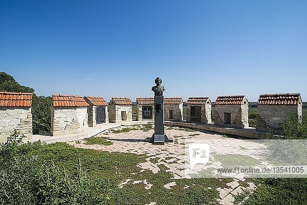 Münchhausen Denkmal in der Festung Bender  Bender  Republik Transnistrien  Moldawien  Europa
