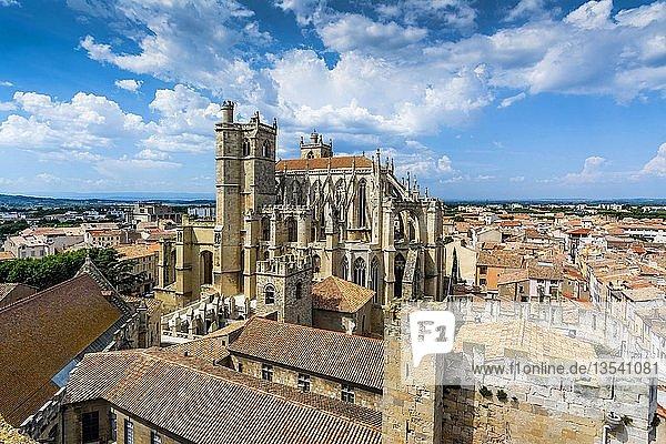 Saint-Just-et-Saint-Pasteur Cathedral in Narbonne  Aude department  Occitanie  France  Europe