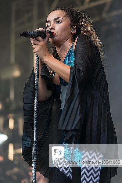 English pop and R&B singer Ella Eyre live at the 26th Heitere Open Air in Zofingen  Aargau  Switzerland  Europe