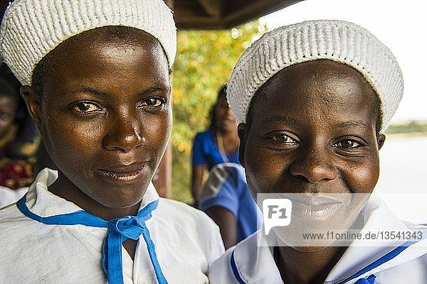 Hübsche christliche Mädchen  Lilongwe  Malawi  Afrika