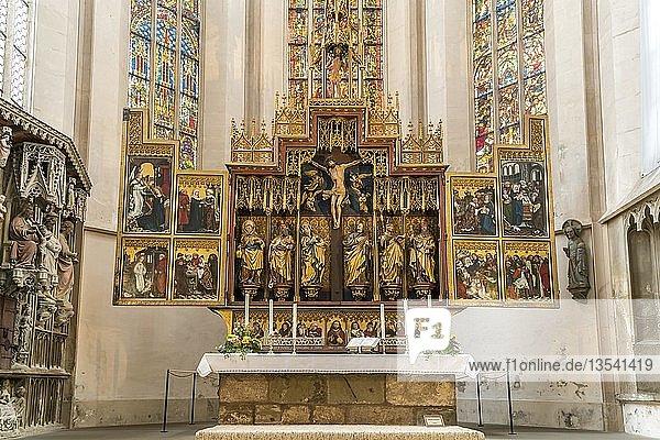 Zwölf-Boten-Altar in der Stadtpfarrkirche St. Jakob in Rothenburg ob der Tauber  Bayern  Deutschland  Europa