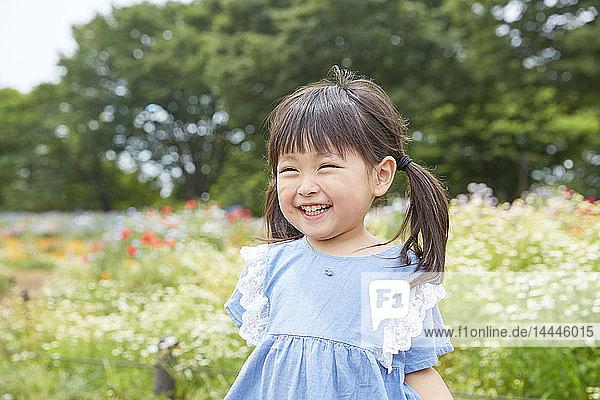 Japanese kid at a city park