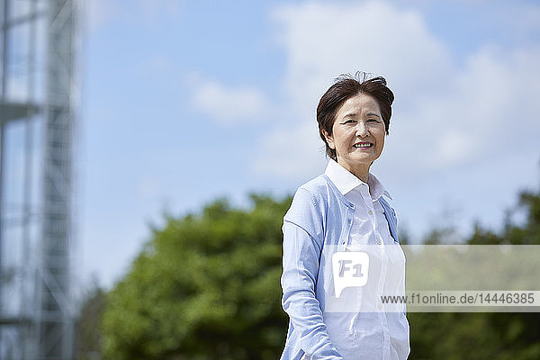 Japanese senior woman