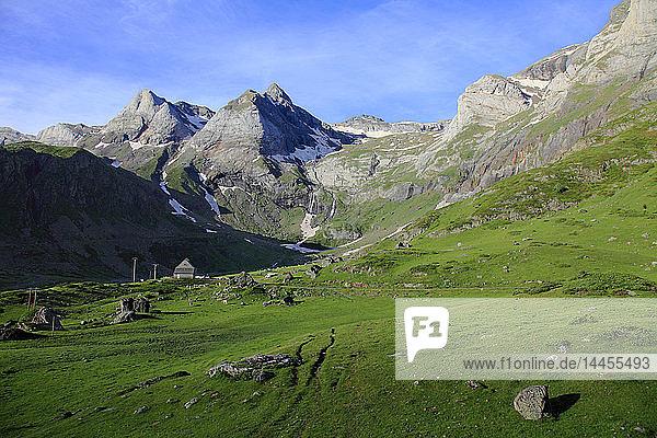 France  Occitanie (Midi Pyrenees )  Hautes Pyrenees (65)  Gavarnie Gedre  Troumouse cirque (Unesco world heritage)