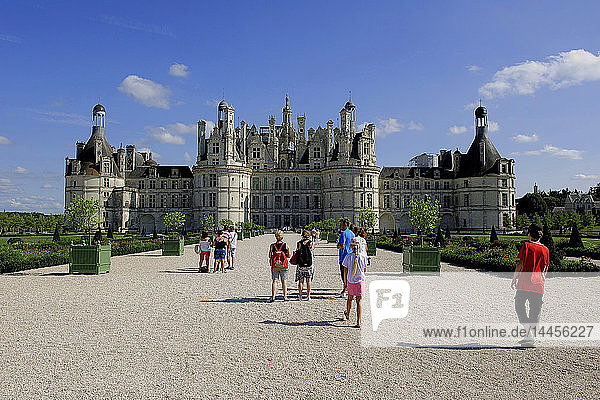 Europe,  France,  Centre-Val of the Loire,  Loir-et-Cher ( 41 ),  Loire valley,  classified in the UNESCO world heritage,  National Domain of the Castle of Chambord,  Castle,  Park